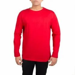 Plain Round Neck Full Sleeves T-Shirt