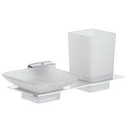 Bathroom Soap Dish With Toothbrush Tumbler