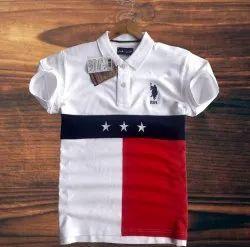 Collar Neck Cotton Mens US Polo T-Shirt