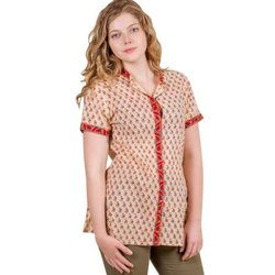 Ladies Cotton Butti Print Shirt