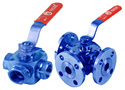 Screwed Ends Mild Steel 3 Way Ball Valves