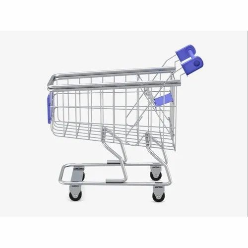 Silver SS Stainless Steel Shopping Trolley