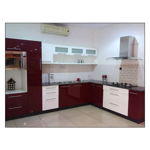 Modular Kitchen Magnon India: Modern High Gloss Modular Kitchen, Rs 1200 /square Feet, B2B Interiors