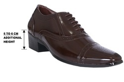 Brown Casual Height Increasing Shoes, Size: 5-11