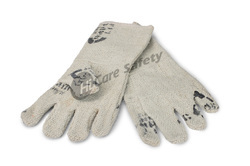 White Full Sleeves Asbestos Hand Gloves