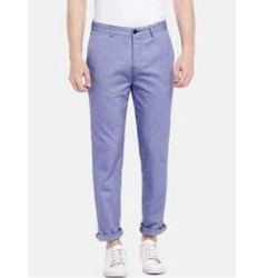 Slim Fit Plain Mens Cotton Casual Trousers, Packaging Type: Packet, Size: 30-36