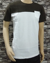 Coffee And White Cut And Sew T-Shirt
