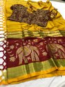 Indian Cotton Silk Sarees With Blouse