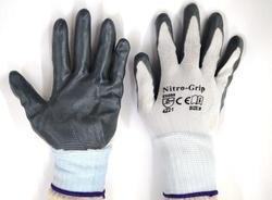 White Nylon Shell With Grey Nitrile Dipped Glove
