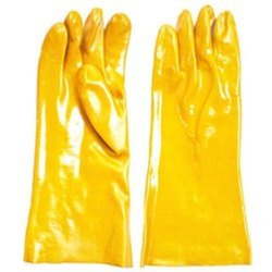 Yellow PVC Hand Gloves