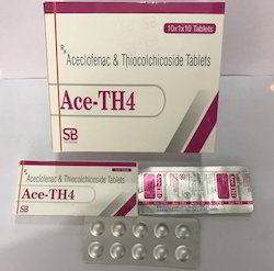 Aceclofenac 100mg Thiocolchicoside 4mg Tablet