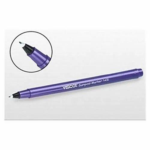 Surgical Skin Marker Pen Viscot Gentian Ink Ultra-Fine Tip Violet