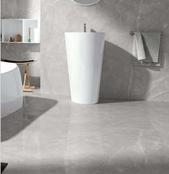 Grey Polished Porcelain Floor Tile, Size: 600 x 600 mm, Thickness: 6 mm