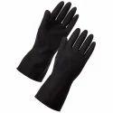 Rubber Black Industrial Hand Gloves
