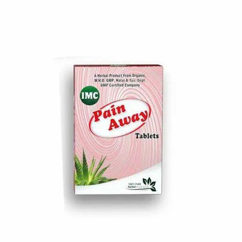IMC Pain Away Herbal Tablet, Packaging Type: Box