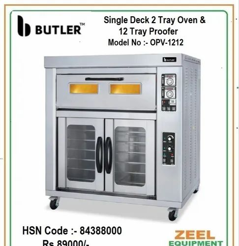 Single Deck 2 Tray Oven with 12 Tray Proofer