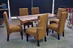 Restaurant Furniture - Dining Set in Canvas & Leather - Designer Restaurant Furniture
