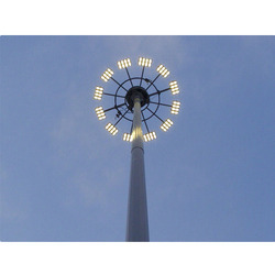 25 meter High mast pole  LED Light
