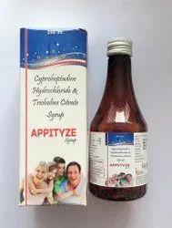 Appityze Cyproheptadine Hydrochloride & Tricholine Citrate Syrup