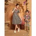Ladies Designer Short Silk Kurtis