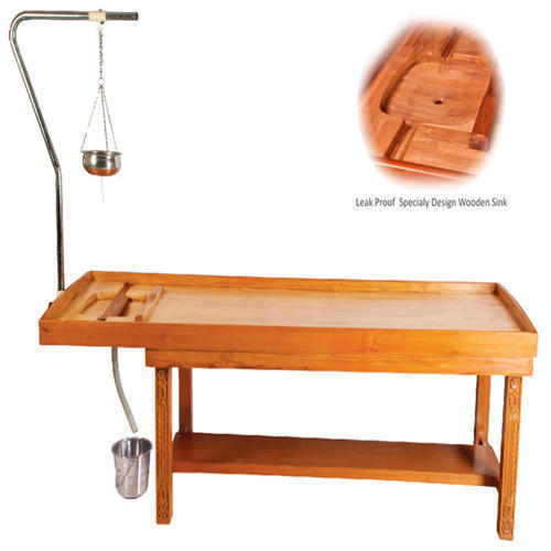 Panchakarma Wooden Massage Table