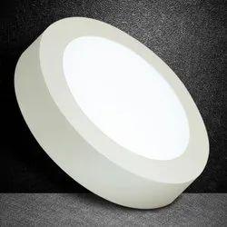 White Round LED Ceiling Panel Light, Voltage: 220-440 V