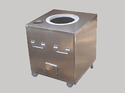 Stainless Steel Square Mobile Tandoor