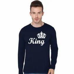 Cotton Printed King- Full Sleeve T Shirt