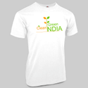 White Promotional cotton T shirt