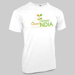 White Promotional Printed T Shirt