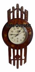 Wooden Brass Inlay Wall Clock