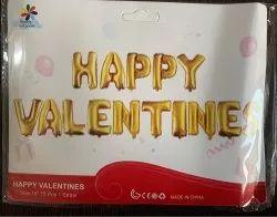 Golden Air Happy Valentines Foil Balloon