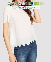 Fair Trade Organic Cotton Ladies Half Sleeve Tops