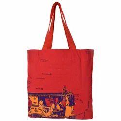Orange Taxi Canvas Tote Bag
