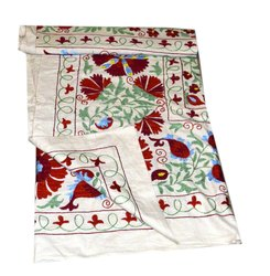 Antique Uzbek Silk Hand Embroidery Suzani On Hand-Loomed