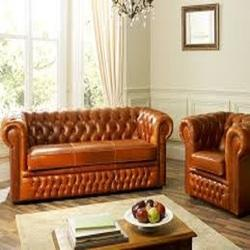 Leather Corner Wooden Sofa