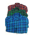 Red , Green Cotton Mens Casual Check Shirt