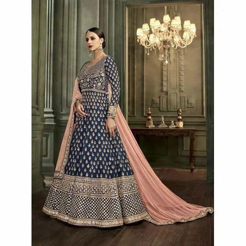69203f58cb Mulberry Silk Designer Anarkali Suits, Rs 2245 /piece, RN Export ...