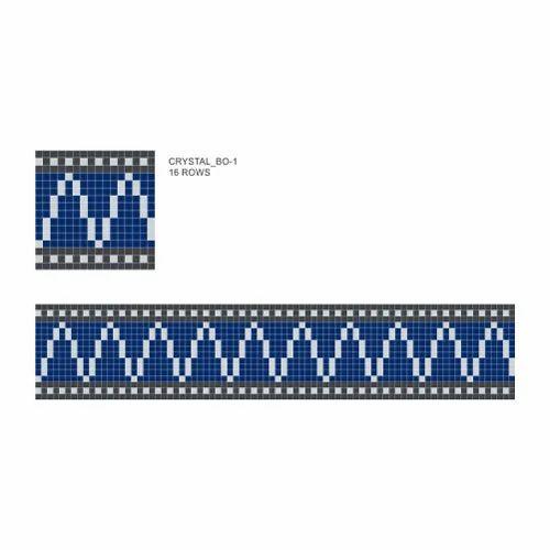 crystal glass mosaic border tiles at rs 1 /square feet | crystal, Hause deko
