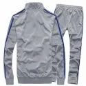 Mens White Polyester Track Suits