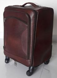 Plain Leather Trolley Bag
