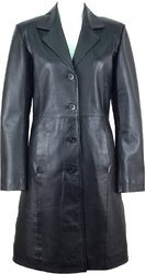 Leather Long Overcoats