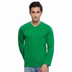 Vimal Apparels Green Men Full Sleeve V Neck T Shirt