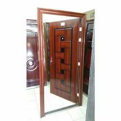 Brown Mild Steel Hinged Door, Single