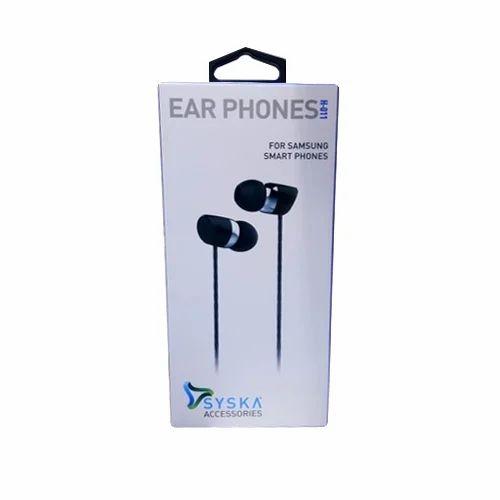 92c8eef04b0 Syska H011 Black Earphones, Packaging Type: Box, Rs 220 /piece | ID ...