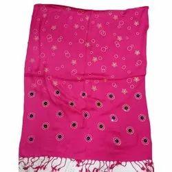 Rayon Casual Wear Ladies Magenta Printed Stole