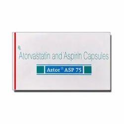 Atorvastatin (10mg) Aspirin (75mg) Aztor ASP 75 Capsules