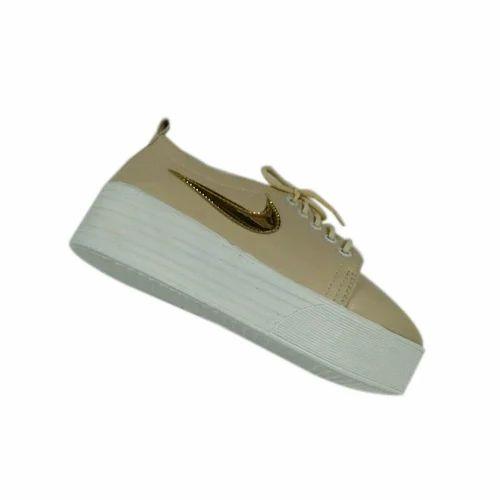 Ladies Leather Platform Shoe, Size: 4-9