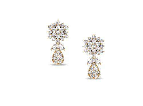 b280ae2e1 Yellow Gold Drops Of Love Earrings, Rs 80135 /pair, Kirtilal Kalidas ...