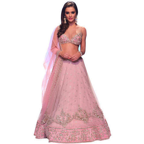 d23316f143 Party Wear Pink Net Lehenga Choli, Rs 2444 /piece, Hasti Creation ...